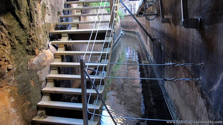 Caminito del Rey antiguo canal