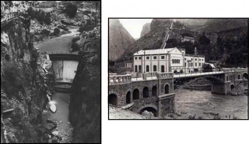 Entrada del canal del caminito del rey y central hidroeléctrica