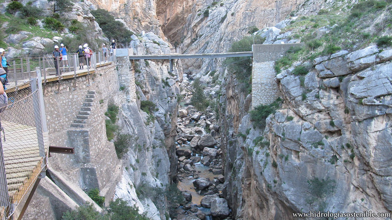 Caminito del Rey pasarela antigua