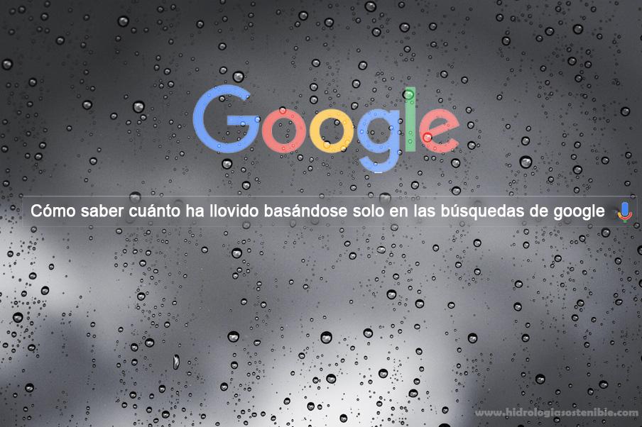 Cómo saber cuánto ha llovido basándose sólo en las búsquedas de Google