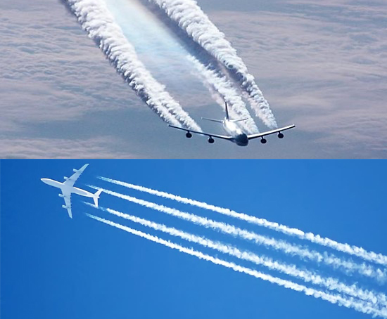 contrails-avion-collage